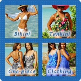 Bikini Swimsuits, Tankini Swimsuits, One-piece Bathing Suits, Beach Clothing